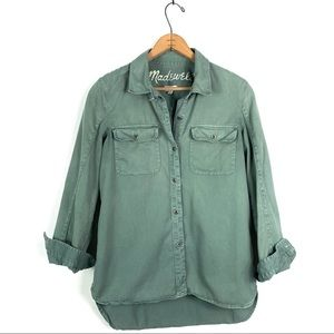 Madewell | Military Green Button Down Shirt